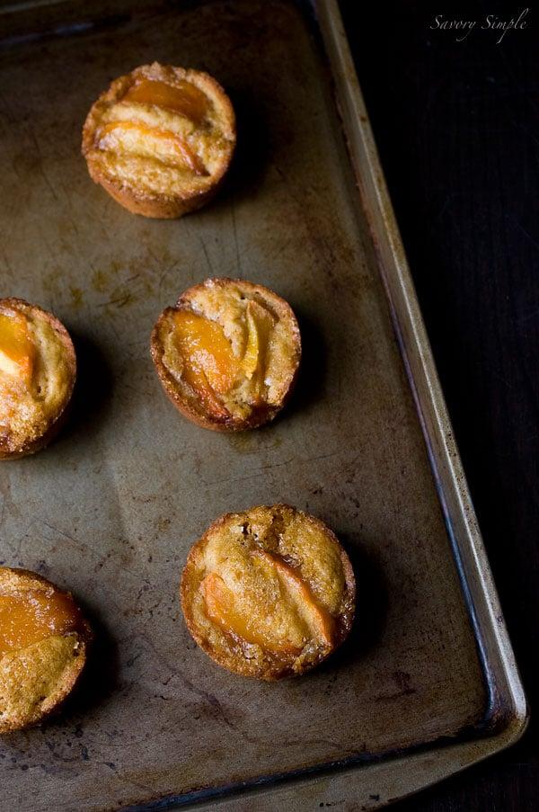 Peach Buttermilk Mini Cakes Recipe ~ Summer Dessert ~ Savory Simple