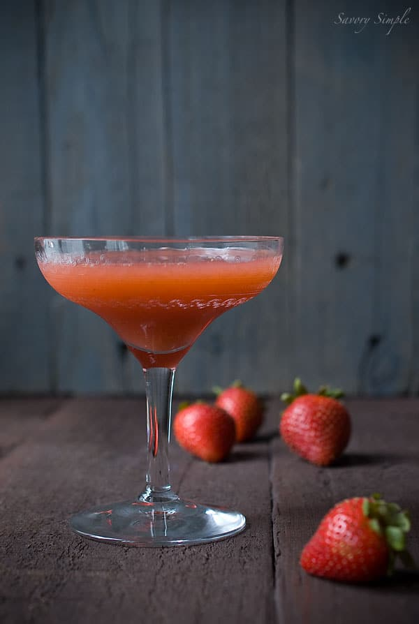 Strawberry Basil Mint Summer Cocktail