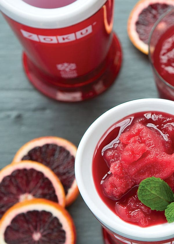 Blood Orange Mojito Sparking Slush - Savory Simple