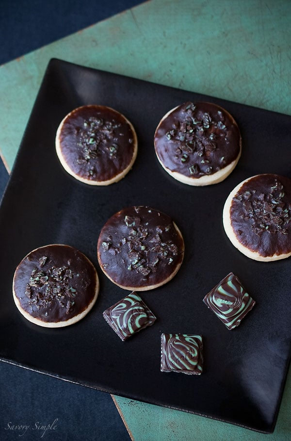 Mint Chocolate Shortbread Cookies - Savory Simple