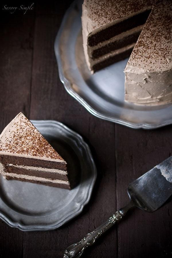 Chocolate Espresso Layer Cake - Savory Simple