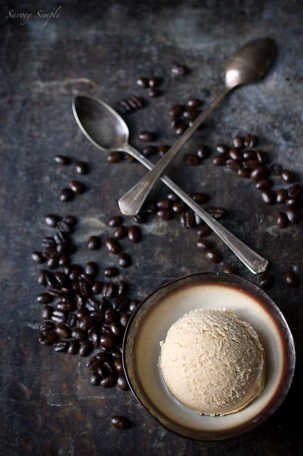 Espresso Coconut Ice Cream Recipe #vegan - Savory Simple