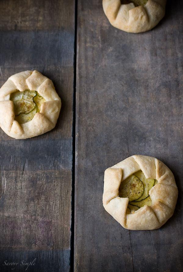 Mini Zucchini Ricotta Galettes - Savory Simple