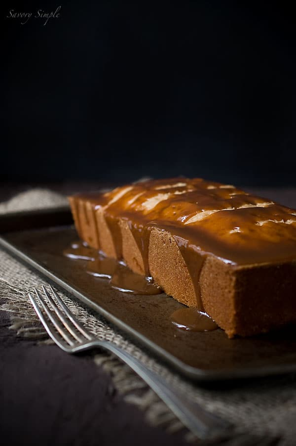 Caramel Apple Poundcake - Savory Simple