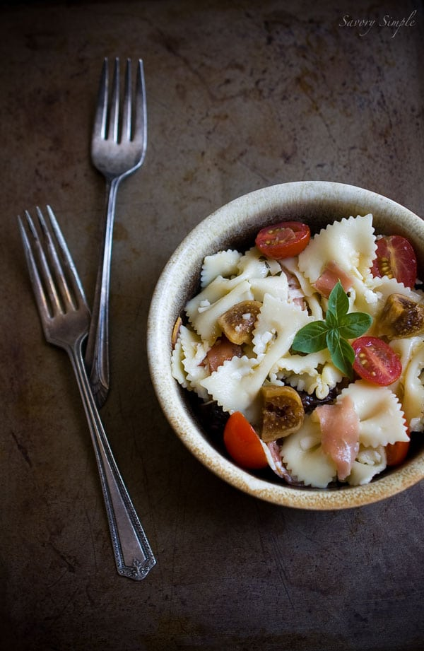 Pasta Salad with Figs and Prosciutto - Savory Simple