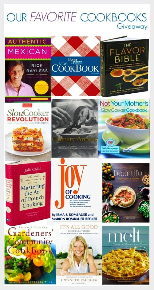 Our Favorite Cookbooks #Giveaway