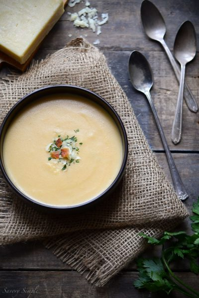 This easy cheesy potato soup recipe is the ultimate comfort food! For an extra treat, you can even go for a loaded potato soup version, using all of your favorite loaded potato fixings!