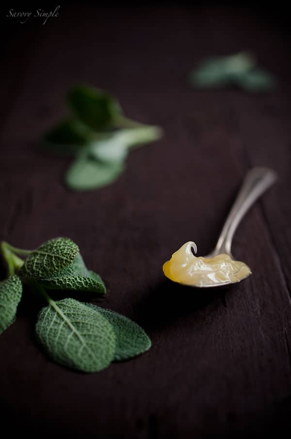 Savory Simple - Lemon Sage Curd #Recipe