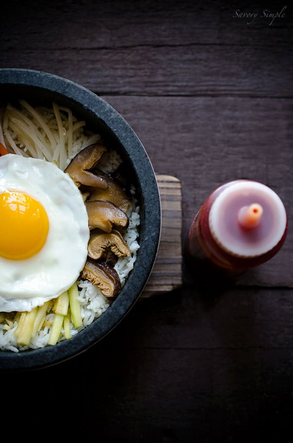 A delicious, easy recipe for making Korean dolsot bibimbap at home!