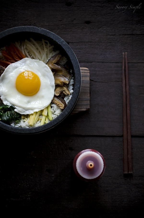 delicious, easy recipe for making Korean dolsot bibimbap at home!