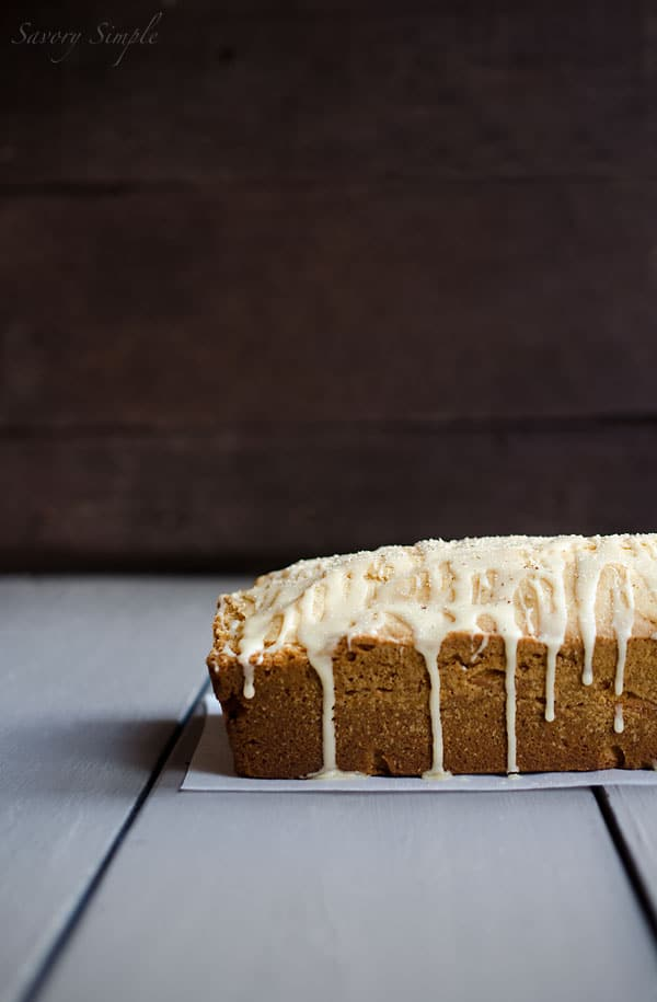 Eggnog Poundcake with Rum Glaze - Savory Simple