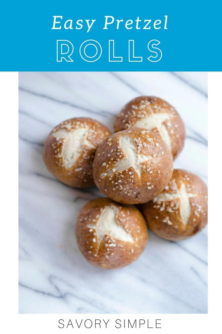 Want to learn how to make pretzel buns? This chewy, flavorful pretzel bun recipe will wow your friends and family. Serve these pretzel rolls alongside your next dinner, dip them into soups and stews, or use them as a base for your favorite sandwich!
