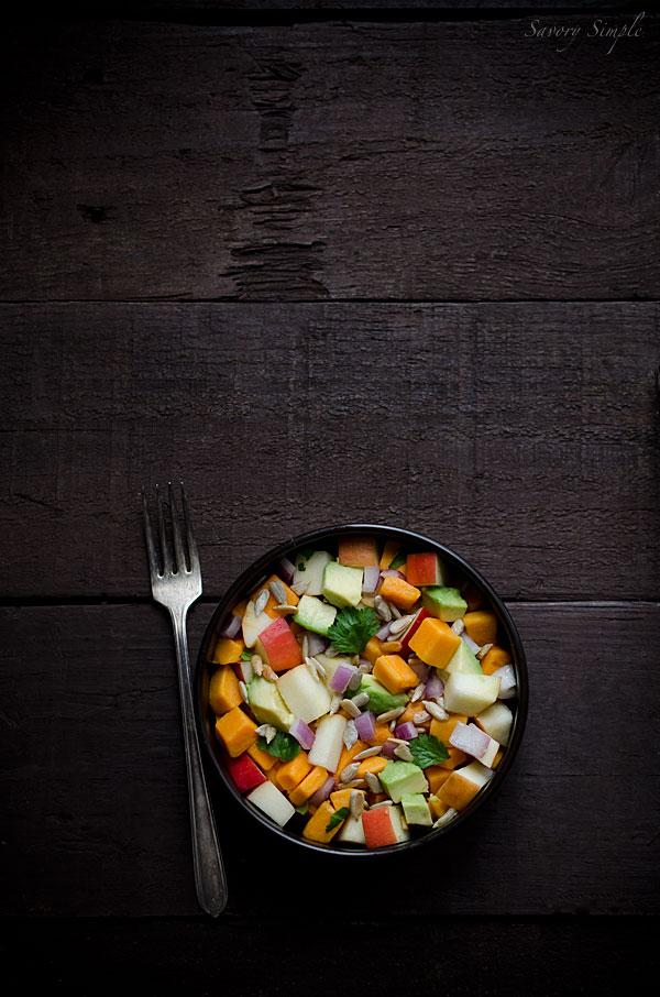 This healthy sweet potato, apple and avocado salad is paleo, gluten free, grain free and vegan!