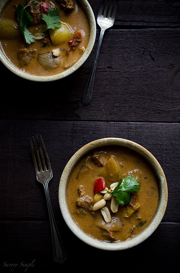 Chicken Massaman Curry is an easy, gluten-free weeknight dinner option.