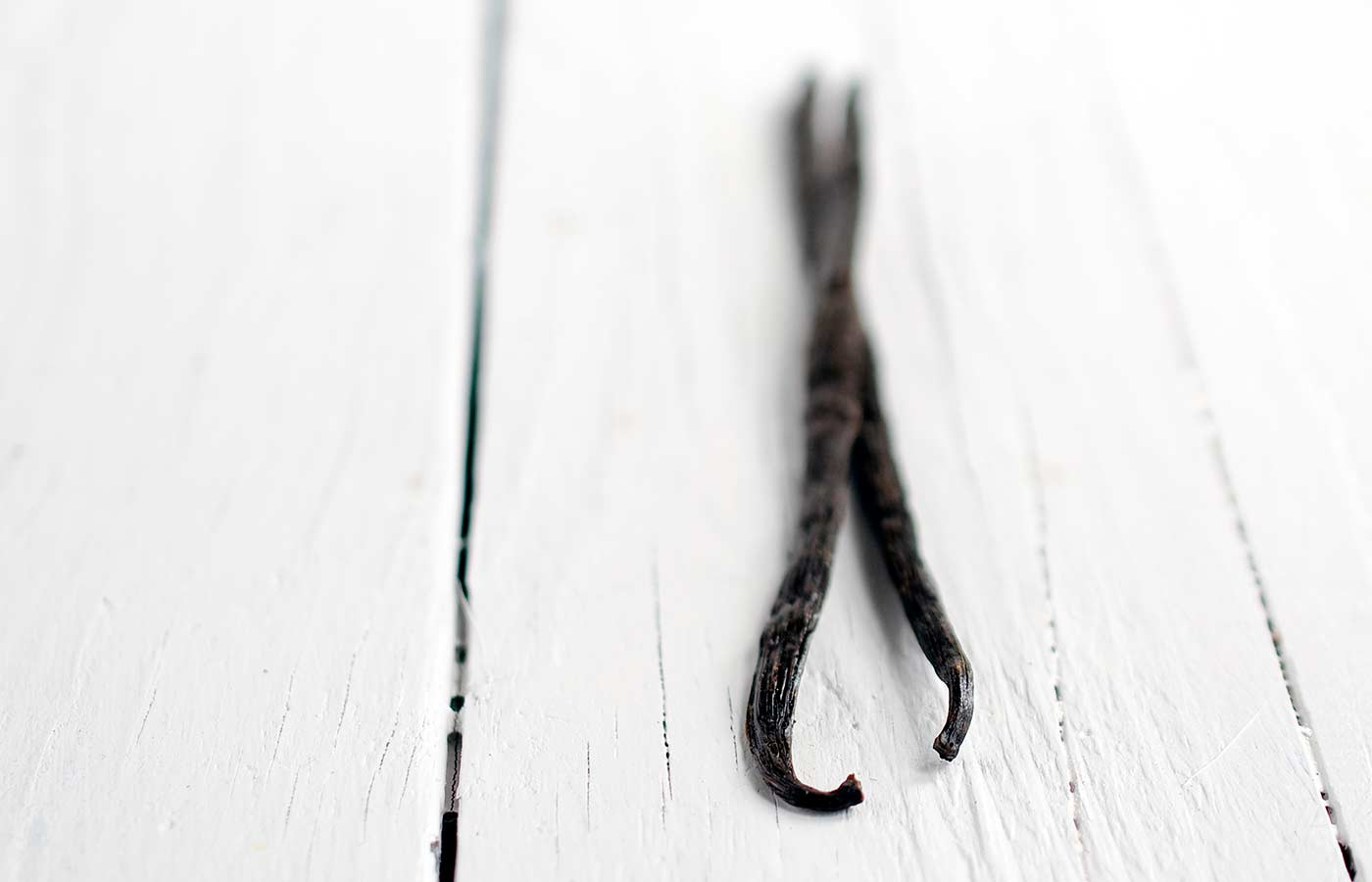 Photo of two vanilla beans.