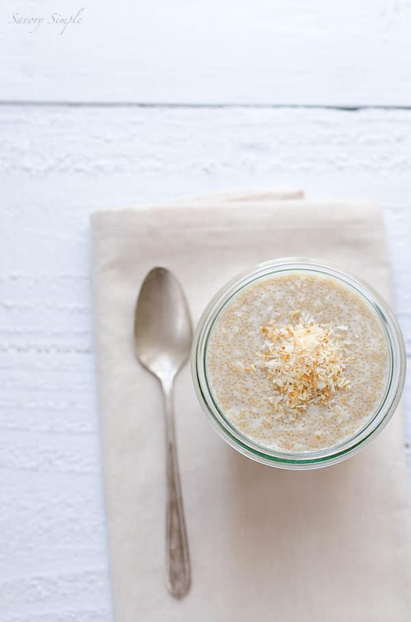 This Toasted Coconut Amaranth Porridge is a healthy, gluten free breakfast!