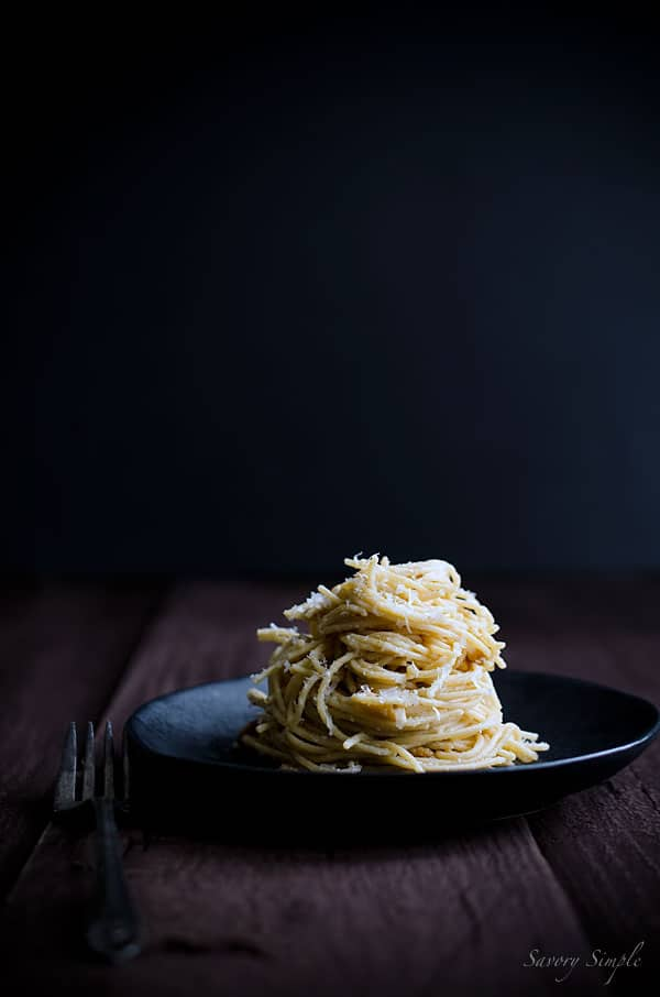 A photo of Spaghetti with Parmesan, Pine Nuts and Brown Butter Sauce