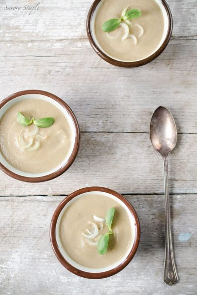 Cream of Shiitake Mushroom and Spring Onion Soup