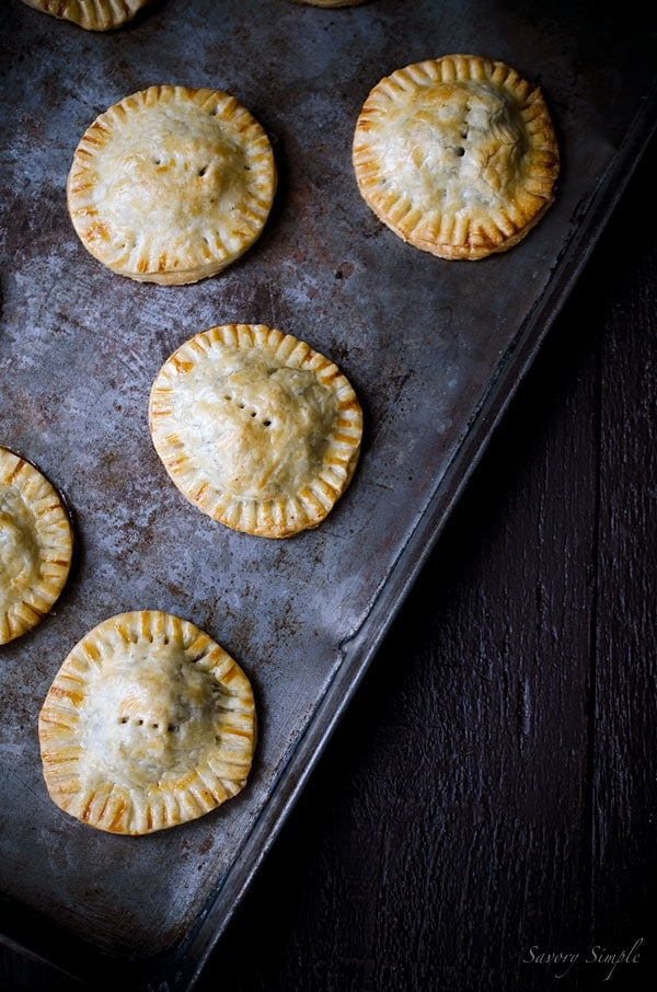 These Savory Meat and Mushroom Hand Pies make an excellent snack or party appetizer!