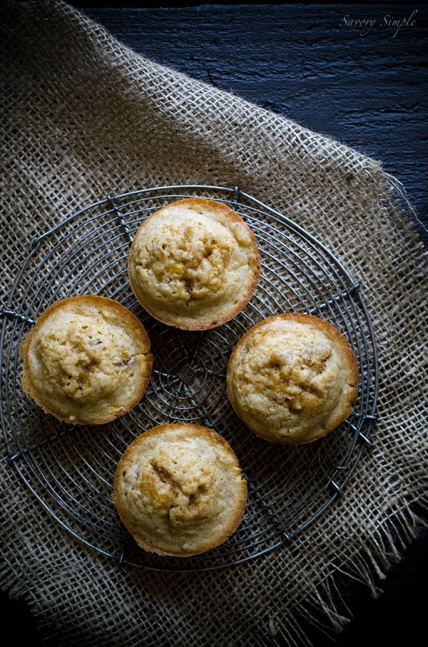 These Brown Butter Nectarine Muffins are incredibly moist and flavorful. They're perfect for Sunday brunch or as a quick snack!