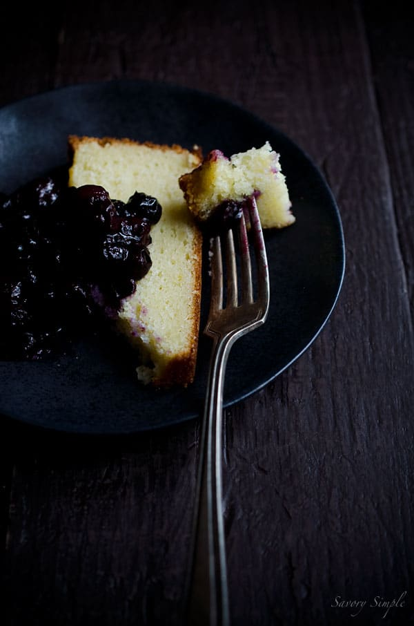 This Fromage Blanc Cake (aka yogurt cake) is similar in taste and consistency to pound cake but much easier to prepare! Berry compote adds a seasonal touch.