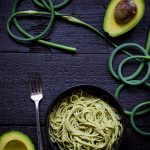 Garlic-Scape-Pesto-Avocado-Pasta