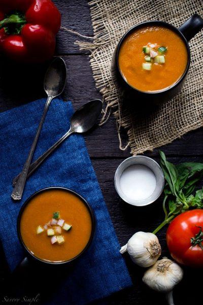 Roasted-Tomato-Gazpacho