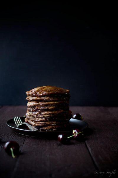 Chocolate-Cherry-Pancakes