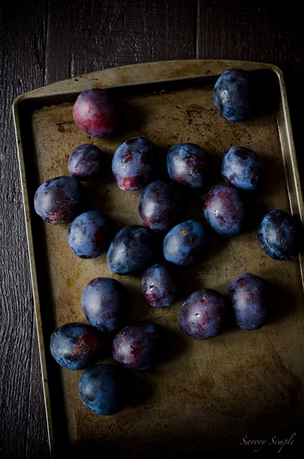 Homemade small batch plum butter has no refined sugar and is easy to prepare at home!