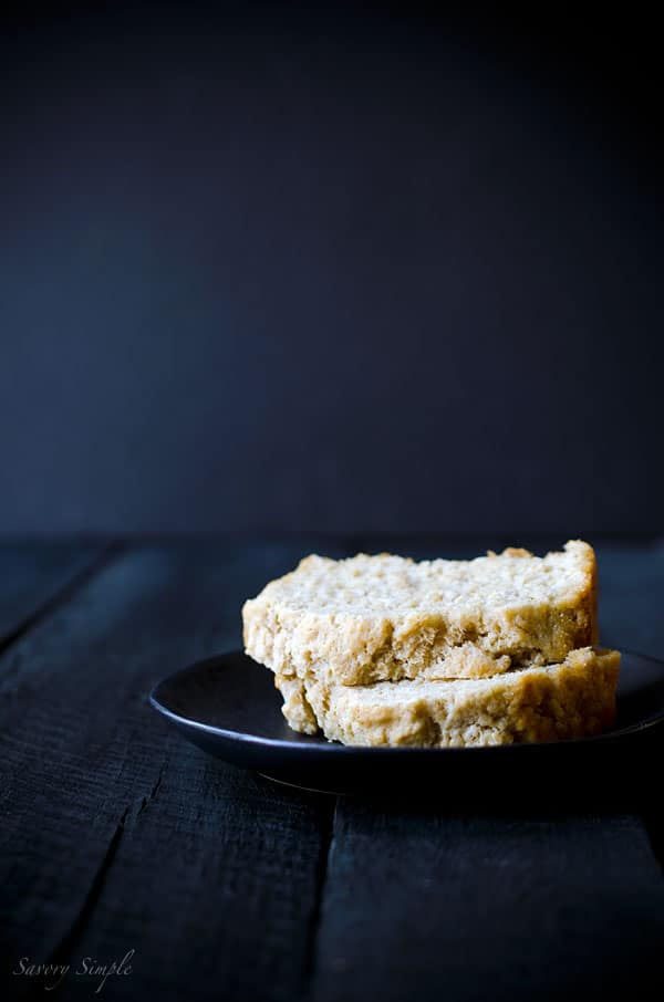 This autumn Spiced Octoberfest Beer Bread recipe is so easy to make! No mixer or kneading required. www.savorysimple.net