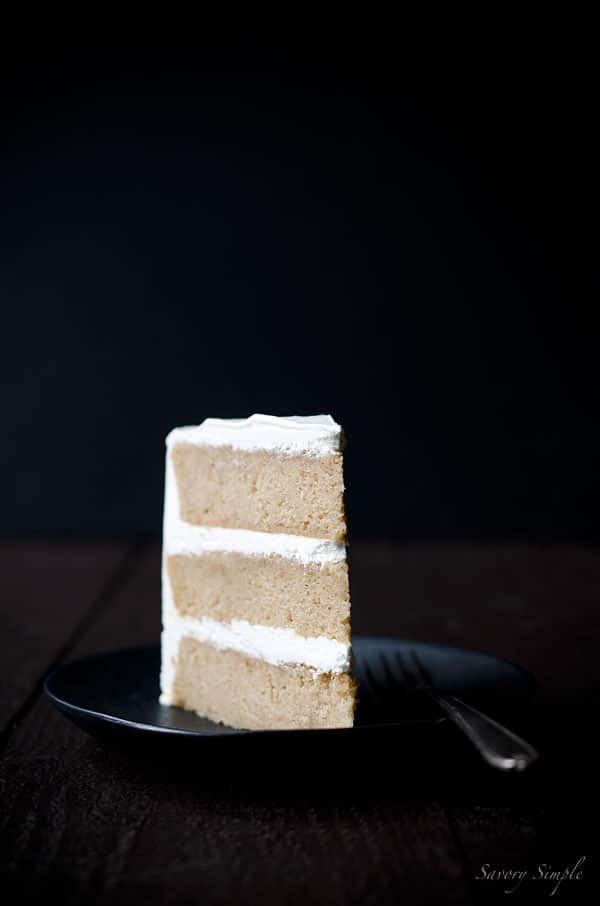 This Pumpkin Spiced Buttermilk Layer Cake with Maple Buttercream is a perfect recipe for Thanksgiving or Christmas! #dessert