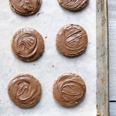 Overhead photo of digestive cookies