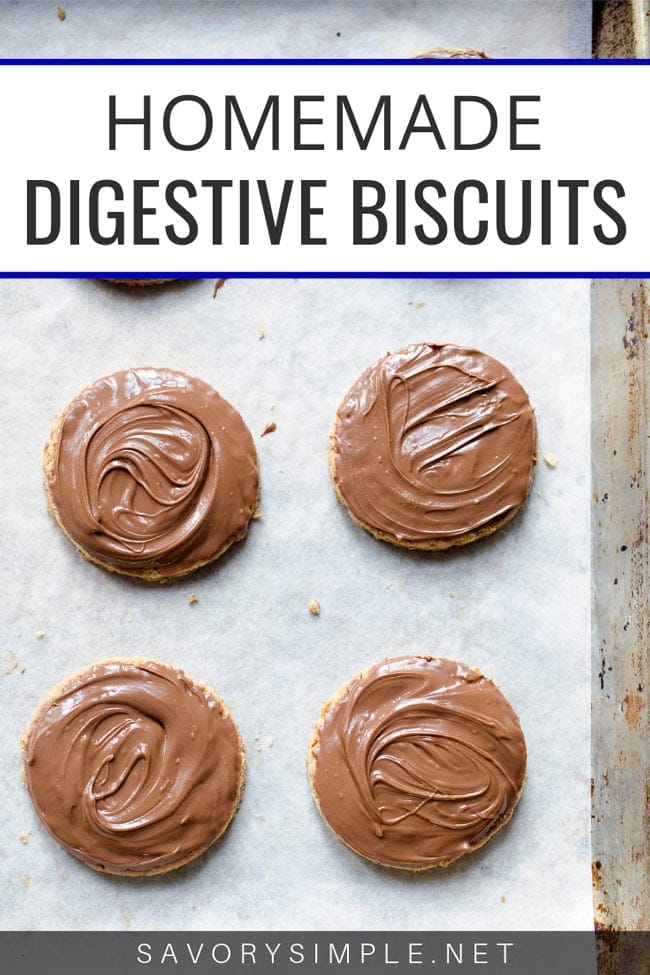 Homemade digestive biscuits with chocolate