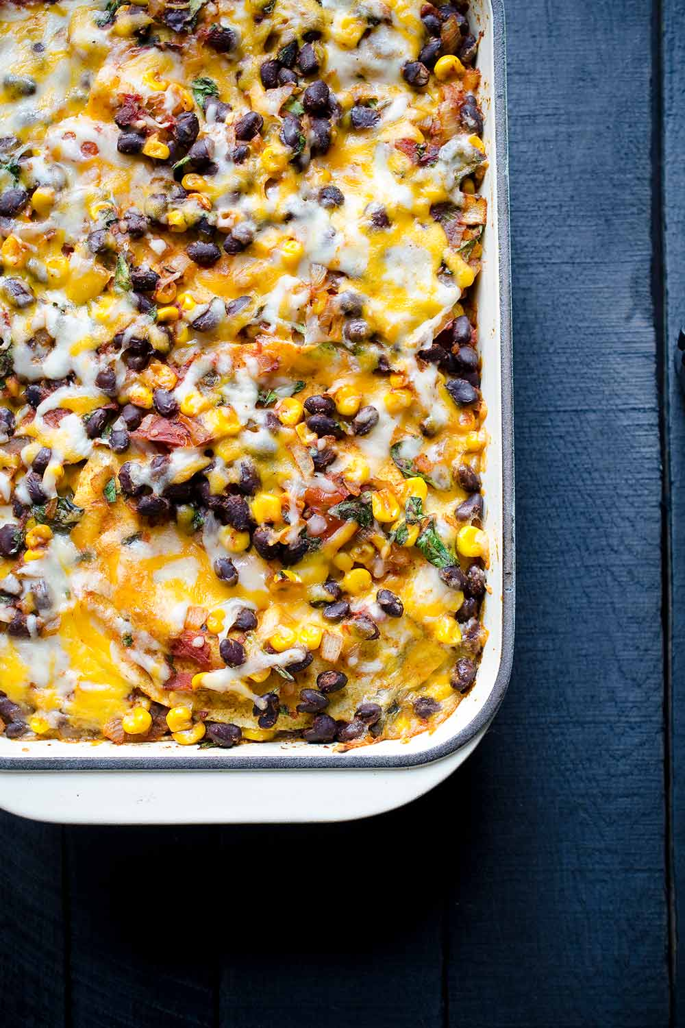 Mexican casserole just out of the oven.
