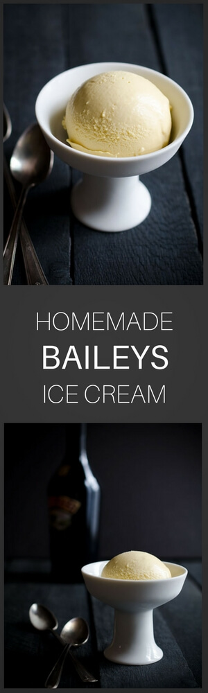 Irish Cream is the perfect base for this amazing Baileys ice cream! It's wonderful served plain or with a bit of chocolate sauce drizzled on top.