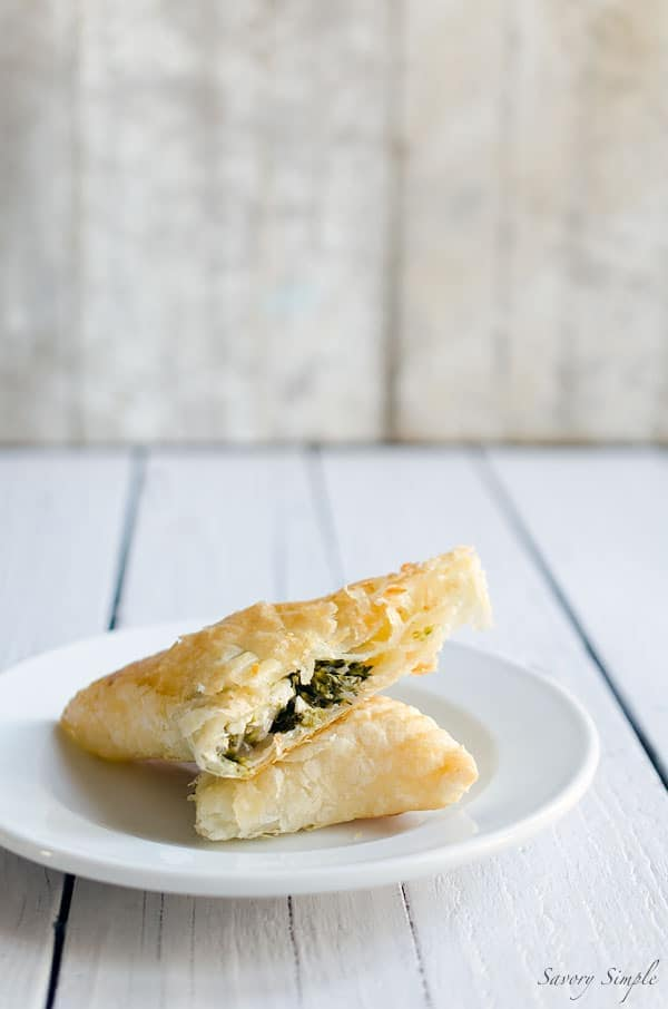 These flavorful broccoli feta turnovers are like a bigger, heartier version of spanakopita. Get this easy-to-prepare appetizer recipe from SavorySimple.net.