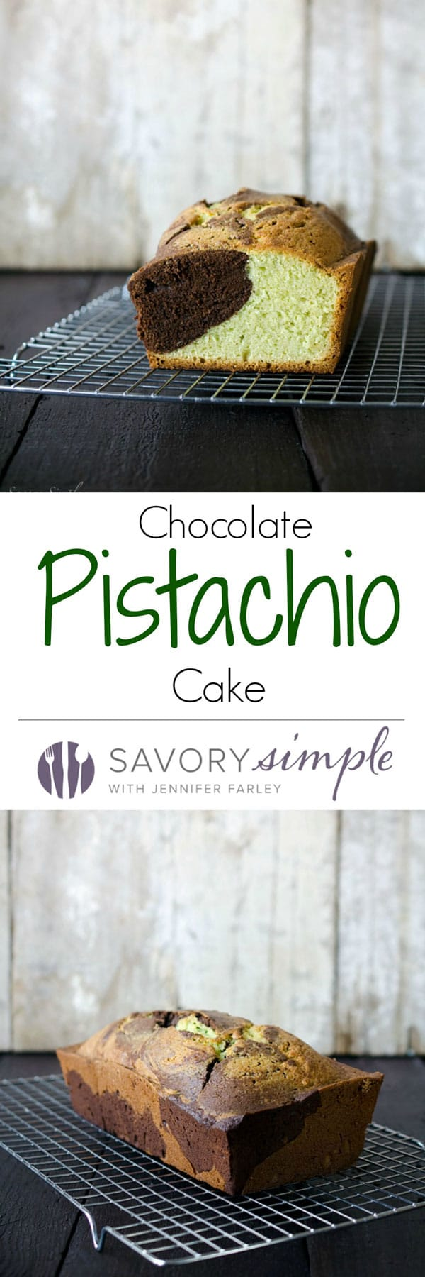 "This chocolate pistachio cake is a dense, moist treat that's adapted from my grandmother's ""famous"" recipe. Get the easy-to-follow recipe from SavorySimple.net"