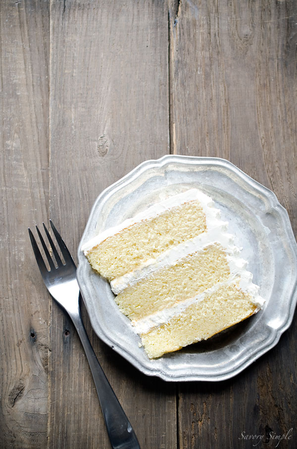Brown Butter Layer Cake with Salted Bourbon Buttercream is a rich, decadent dessert that will wow your friends and family. Get the recipe from SavorySimple.net