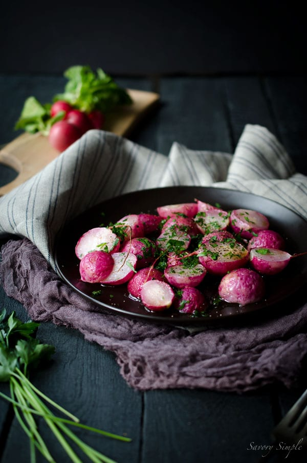 Roasted Radishes with Brown Butter and Parsley + a First We Eat Recap