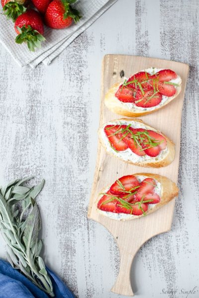 Strawberry-Citrus-Herb-Crostini