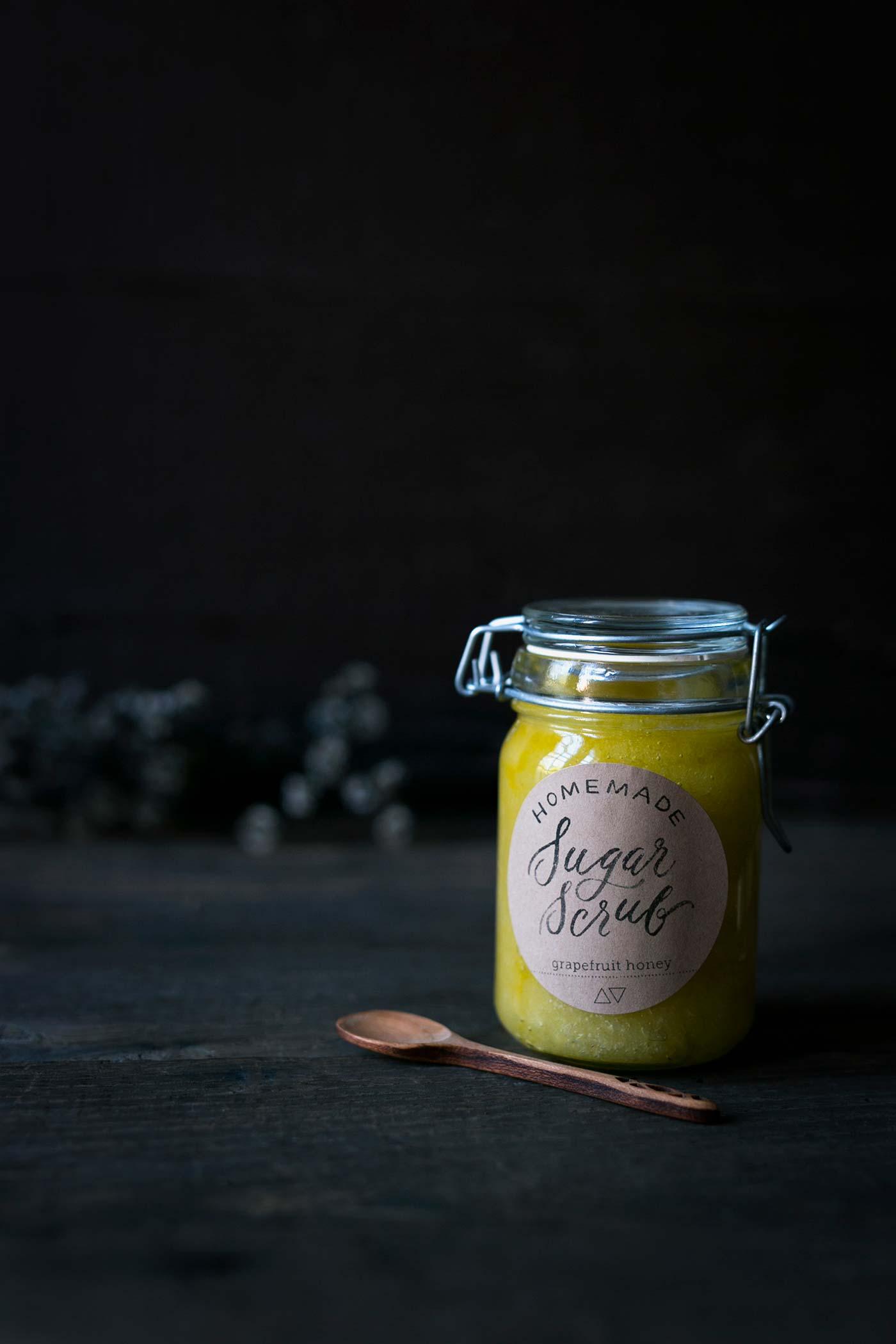 Homemade Sugar Scrub in a mason jar