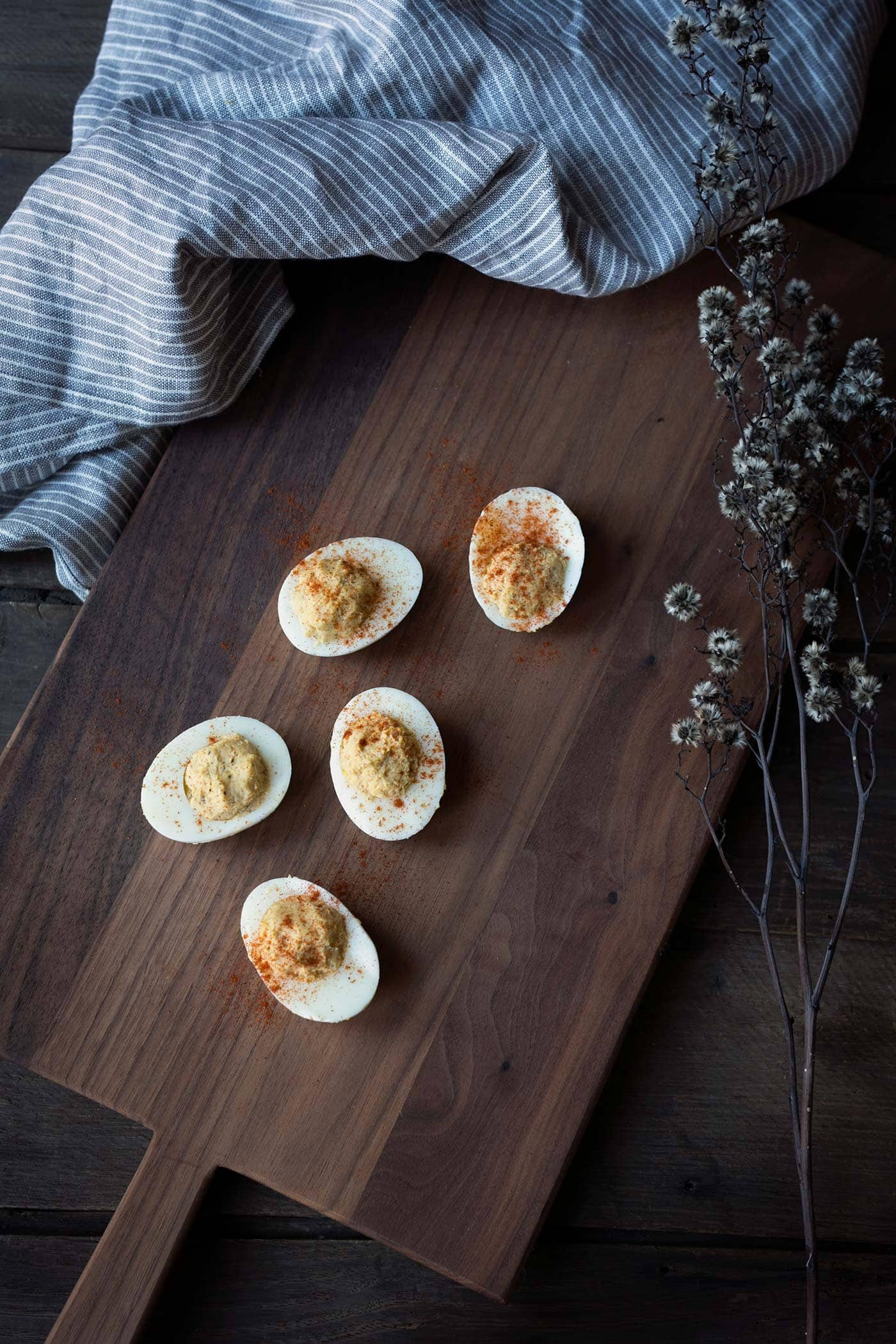 Old Bay Deviled Eggs are an easy, flavorful appetizer that's ready in under 30 minutes. They're also low carb and gluten-free! Get the recipe from SavorySimple.net.