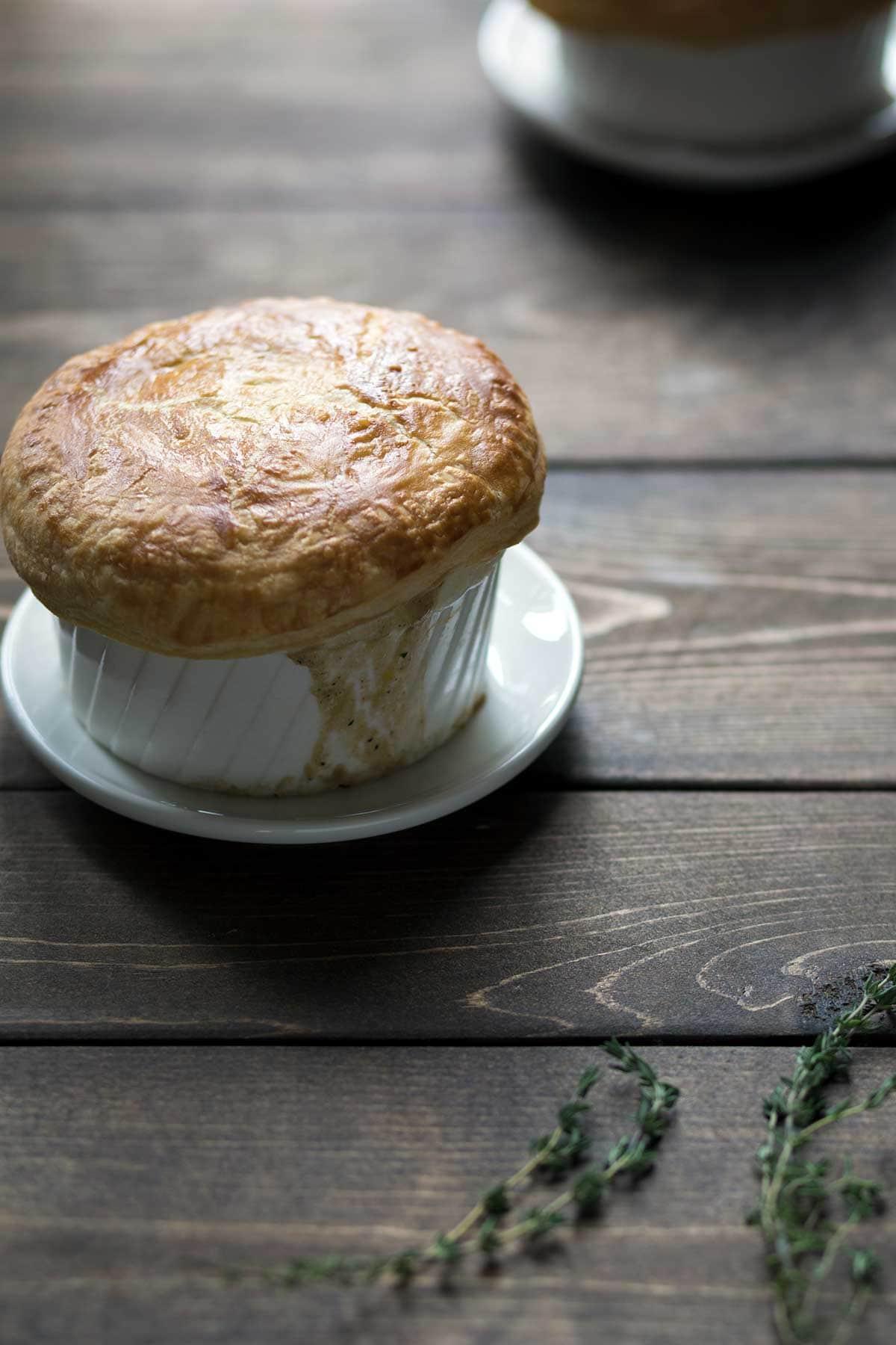 Vegetarian Pot Pie in a ramekin