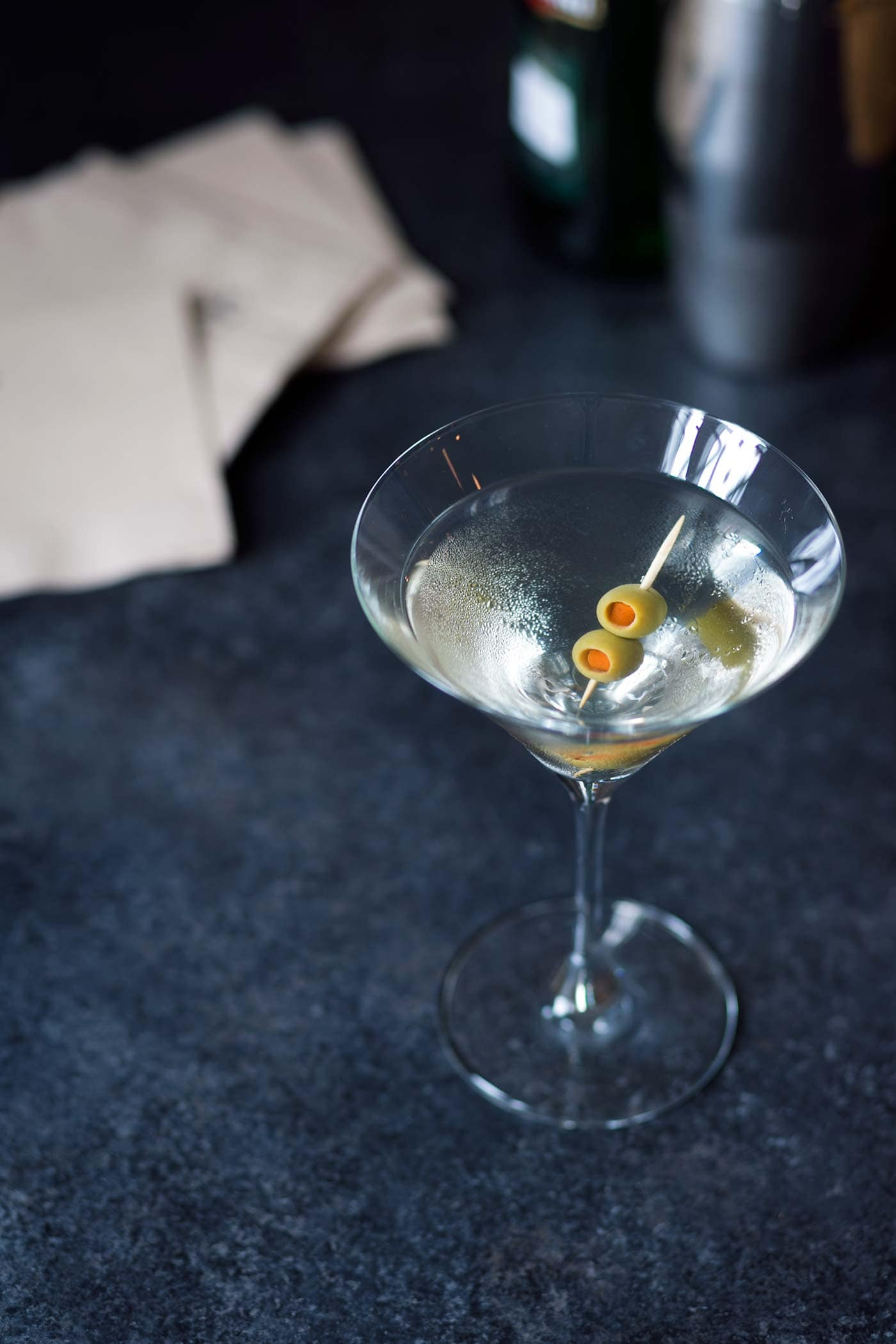 I like to keep ingredients for a few cocktails on hand when we have parties, and I can always quickly whip up a Classic or Dirty Martini for guests on demand. Learn how at SavorySimple.net
