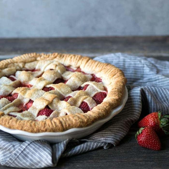 A Photo of Strawberry Pie