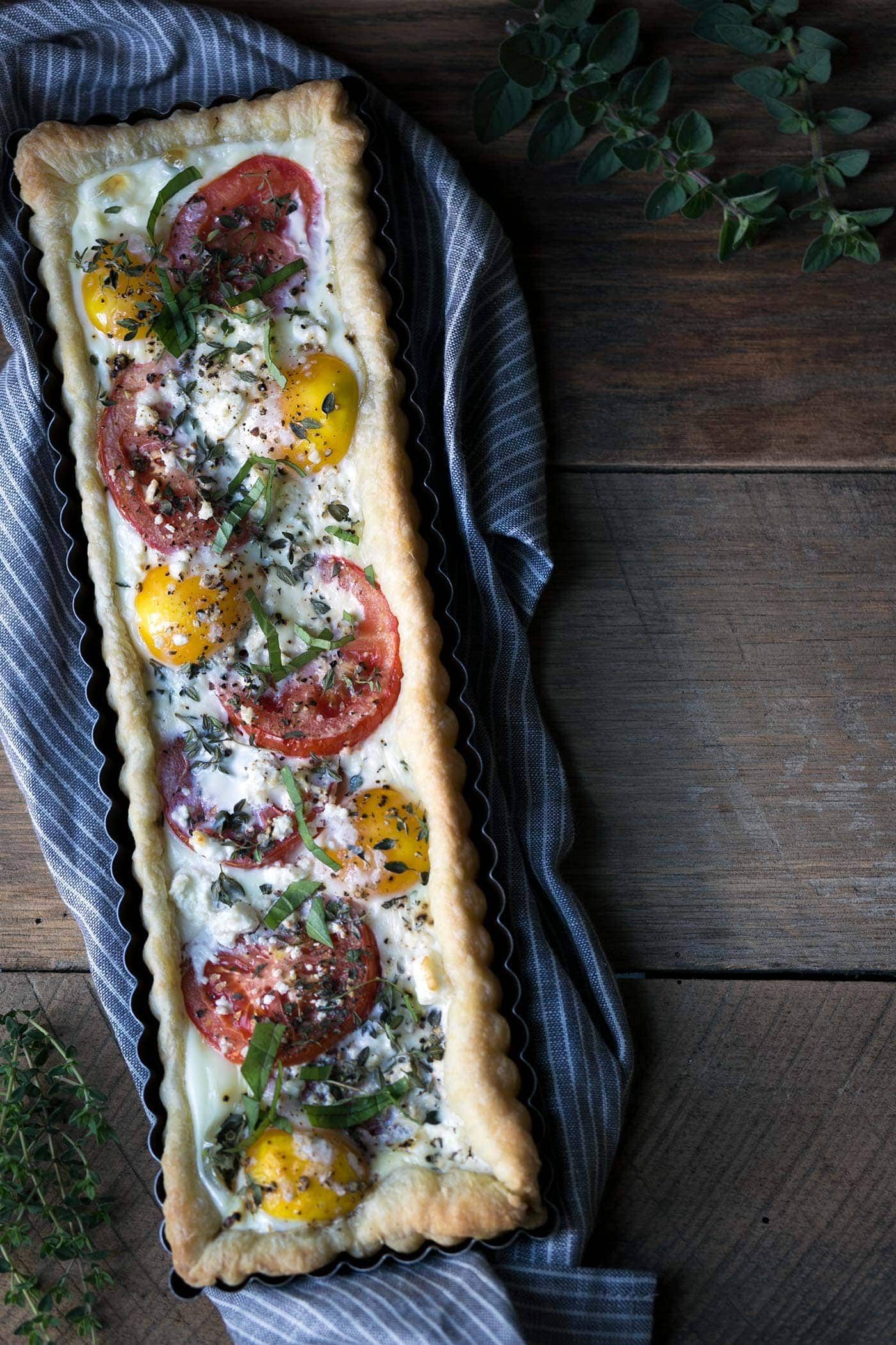 Savory-Simple-Recipe-Tomato-Feta-Egg-Tart