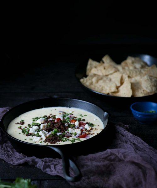 The BEST chorizo queso blanco dip recipe!