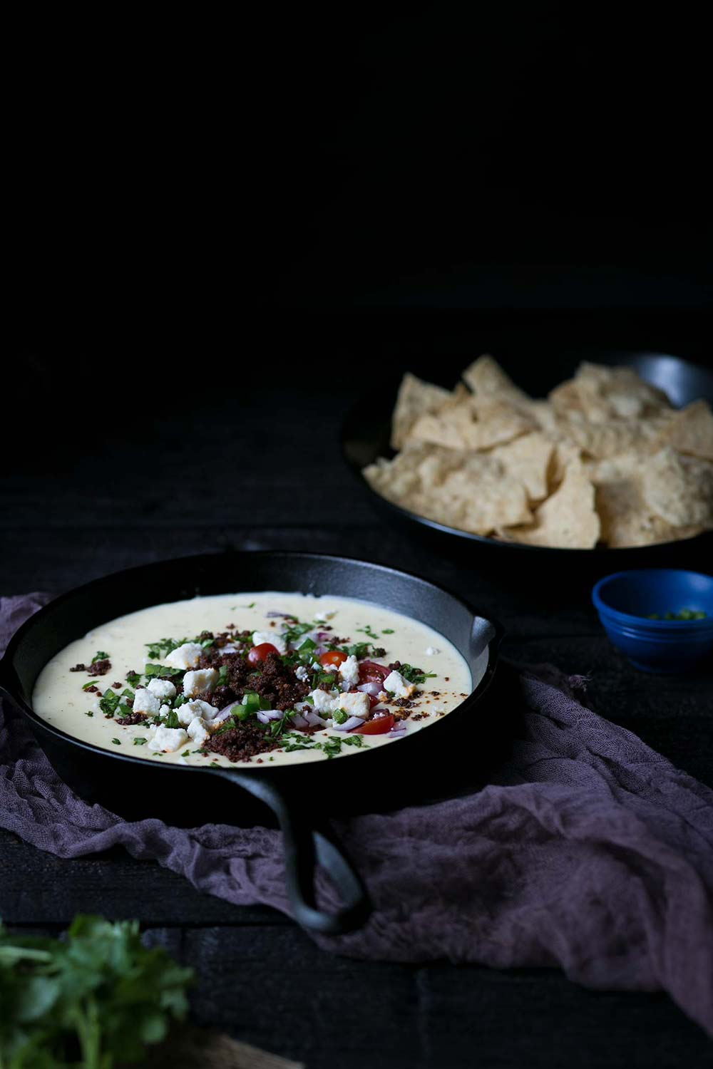 This Queso Blanco Dip gets a rich, savory kick from spicy chorizo, which can be omitted if you prefer a more basic queso dip. This Cheesy dip is always a hit at parties!