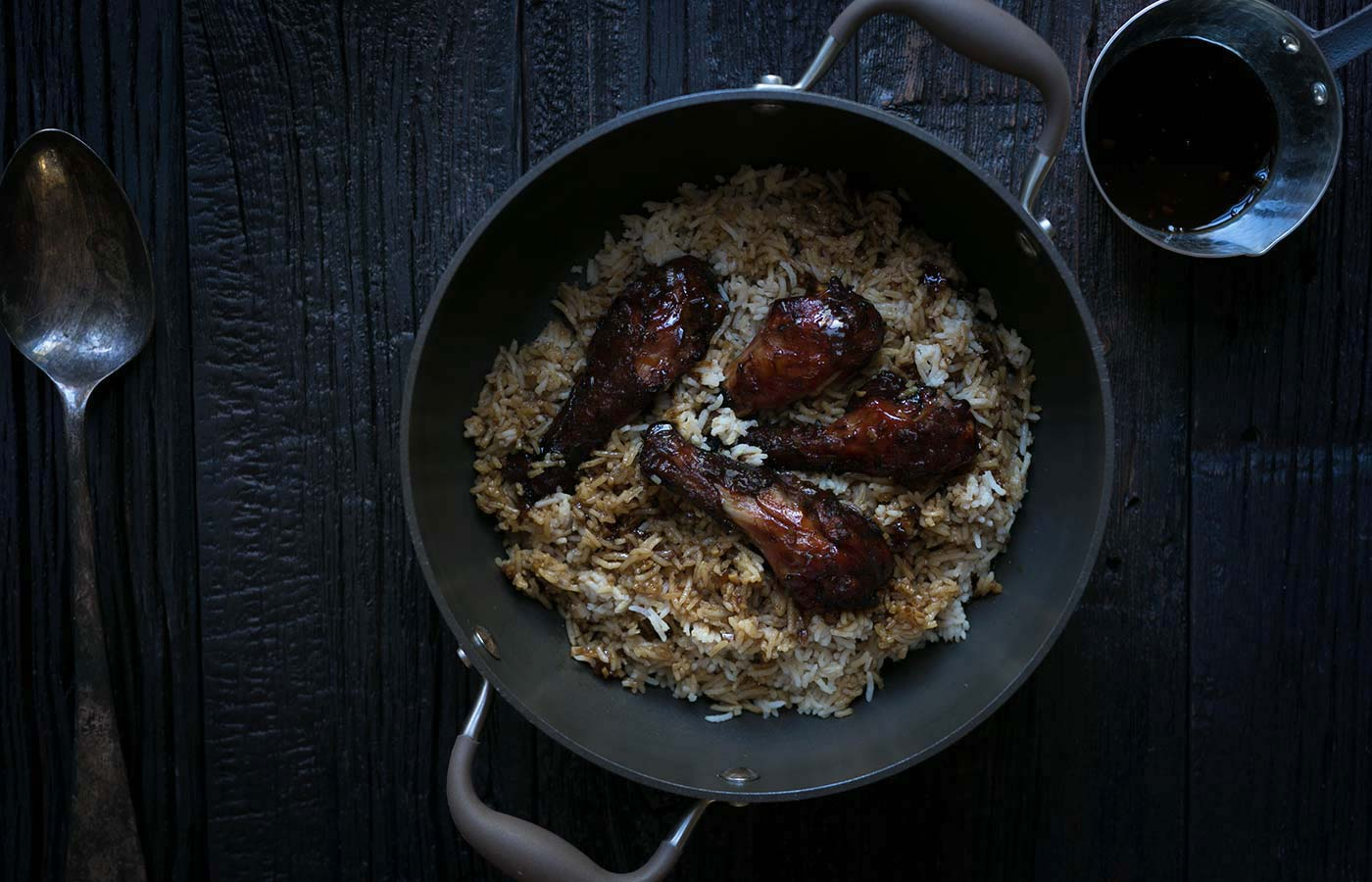 Looking for a flavorful dinner that takes chicken to the next level? You need these Teriyaki Drumsticks with Umami Rice from the Adventures in Chicken cookbook! SavorySimple.net