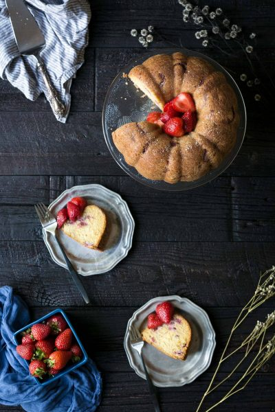 This Strawberry Bundt Cake is wonderful year round, and it's also perfect for holiday parties! Get the easy-to-follow recipe from Savory Simple.